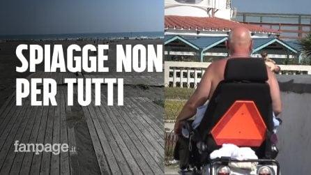 Le spiagge libere di Ostia off-limits per i disabili: mancano servizi e accessi
