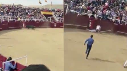 Entra nell'arena e lo uccide: le immagini durante la corrida