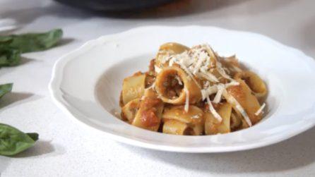Come preparare la pasta con ragù di verdure