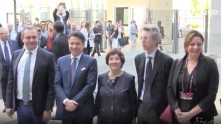 Napoli, il premier Conte arriva alla 'Apple Academy'