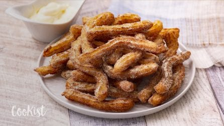 Savory churros: made with fresh potatoes, easy and delicious!