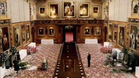 Castello di Windsor, la preparazione della tavola per il pranzo: il time lapse impressionante