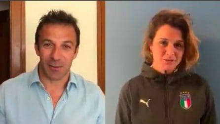 Il messaggio di Alessandro Del Piero a Cristiana Girelli