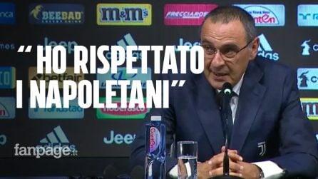 """Juve, Sarri risponde ai tifosi del Napoli: """"Non sono un traditore. Proverò a vincere in Europa con CR7"""""""