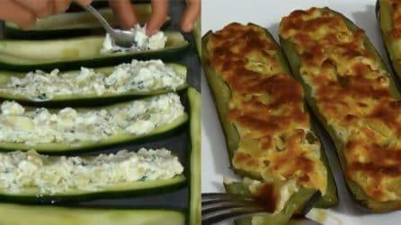 Zucchine ripiene al forno: pochi ingredienti per un piatto delizioso