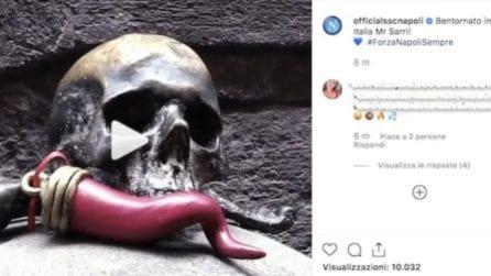 Sarri alla Juventus, il Napoli pubblica un video per fare gli auguri al Comandante