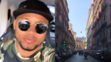 Zuniga ritorna a Napoli: il video del colombiano per le vie della città