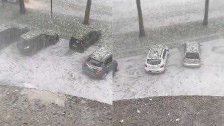 Maltempo Torino, violento temporale con grandinata