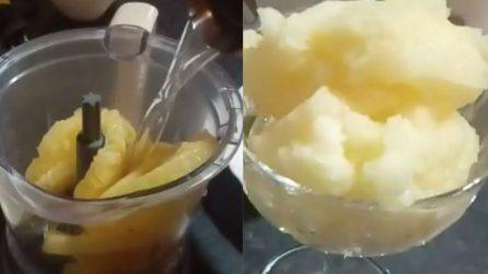 Sorbetto all'ananas: semplice da preparare e delizioso