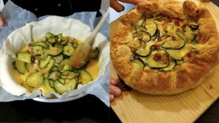 Quiche zucchine e pancetta: la ricetta gustosa che si prepara in pochi minuti