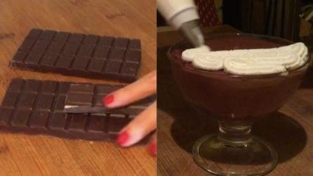 Coppe al cioccolato con panna: il dessert da leccarsi i baffi