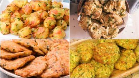 4 ricette per delle frittelle salate morbide e sfiziose!