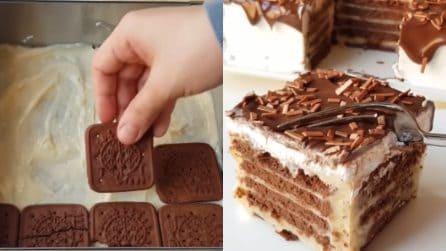 Torta di biscotti al cioccolato: il dessert fresco e senza cottura