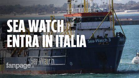 """Migranti, la Sea Watch 3 entra in acque italiane: La capitana: """"So cosa rischio, ma non ho scelta"""""""