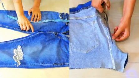 Come riciclare i vecchi jeans: il risultato è davvero originale e perfetto per l'estate
