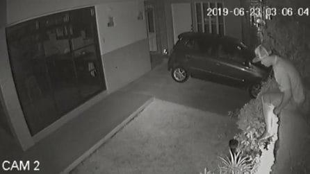 Le telecamere riprendono il ladro in azione: quello che fa lascia tutti senza parole