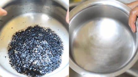 Come pulire il fondo bruciato della pentola: un metodo ottimo