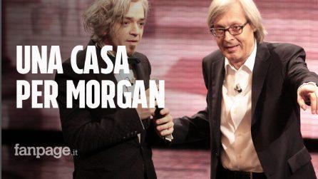 """Vittorio Sgarbi sta con Morgan dopo lo sfratto: """"Può trasferirsi a Sutri già nei prossimi giorni"""""""