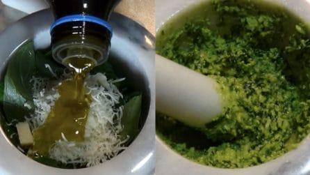 Pesto ligure: una ricetta veloce per avere un condimento subito pronto
