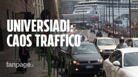 """Napoli, scatta dispositivo traffico per Universiadi, è caos: """"Uno schifo, zero organizzazione"""""""