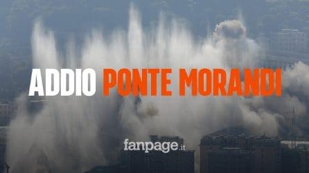 Ponte Morandi Genova, il momento della demolizione definitiva