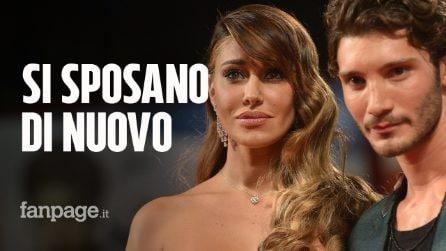 """Belén Rodriguez e Stefano De Martino si sposano di nuovo: a """"celebrare"""" è il figlio Santiago"""