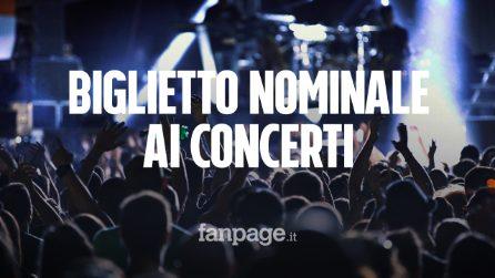 Biglietto nominale per i concerti dall'1 luglio: cosa cambia e quali difficoltà per il pubblico