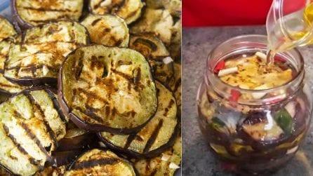 Melanzane grigliate sott'olio: come prepararle in casa e conservarle