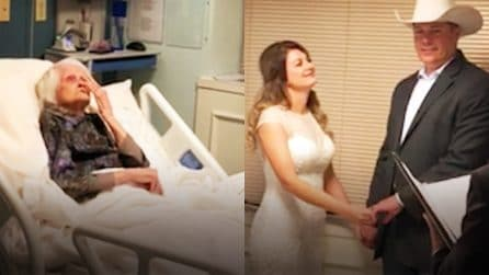 Si sposano in ospedale per permettere alla nonnina ricoverata di partecipare alle nozze