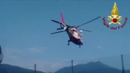 Ancora dispersa nel lago di Como: continuano le ricerche dei vigili del fuoco