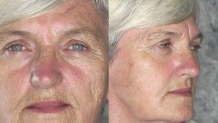 I segni del tempo spariscono grazie al make up: il risultato è stupendo