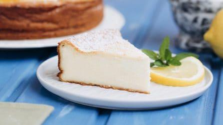 Torta al limone: un dolce cremoso pieno di gusto senza farina e lievito!