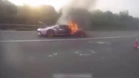 L'amico gli presta la Lamborghini da oltre 1 milione di dollari: l'auto va in fiamme
