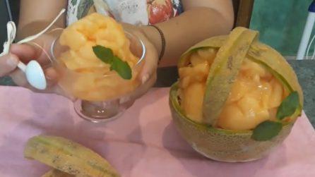 Sorbetto al melone cantalupo: la ricetta fresca e deliziosa