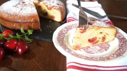 Torta alle ciliegie: perfetta per la prima colazione e la merenda