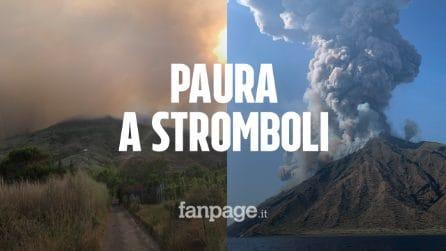 Stromboli, esplosioni dal cratere e pioggia di lapilli: turisti scappano in mare