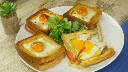 Toast con uovo: un modo goloso per preparare un sandwich al forno saporito!