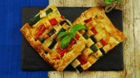 Torta di pasta sfoglia e verdure: colorata e originale!