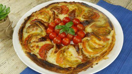 Torta salata ai pomodori: colorata, fresca e saporita!