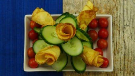 Rose fritte di patate: l'antipasto bello e buono, facilissimo da preparare!