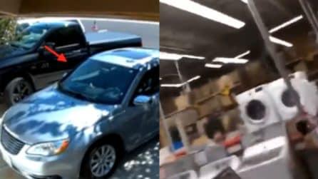 Terremoto California, la scossa fa oscillare le auto parcheggiate e devasta un magazzino