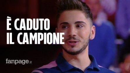 """Caduta Libera, eliminato il campione Nicolò Scalfi che scoppia a piangere: """"È stato bellissimo"""""""