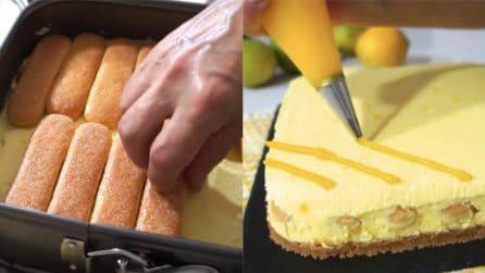 Torta fredda al limone: un dessert goloso e senza cottura