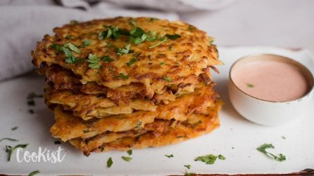 Grated potato fritters: ready in a few minutes!