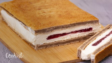 Giant milk slice: with a fluffy milky filling, it's the perfect snack!