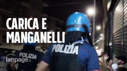 Scontri al CPR di Torino, la polizia carica e colpisce i manifestanti