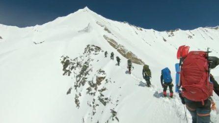 Alpinisti travolti da una valanga: le ultime immagini prima di morire
