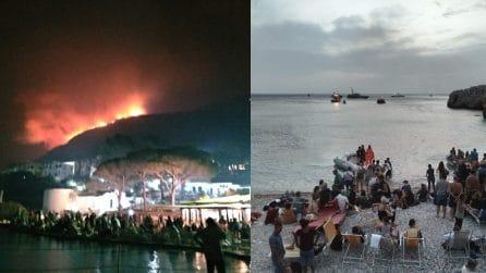 San Vito Lo Capo, grave incendio: persone fuggono dal villaggio