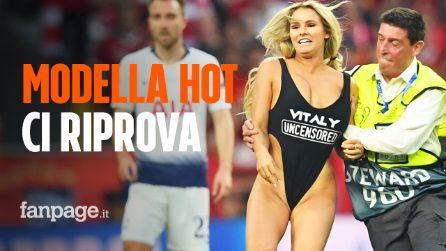 La sexy modella ci riprova: l'invasione di Kinsey Wolanski durante la finale di Copa America