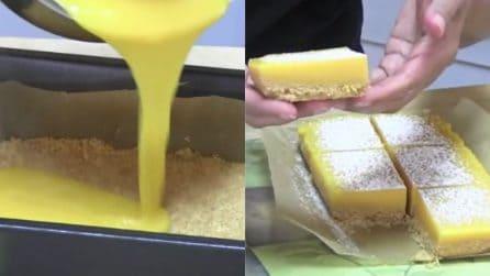 Quadrotti al limone senza cottura: un dessert semplice e golosissimo